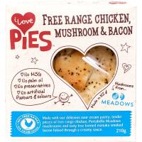 I Love Pies Free Range Chicke Mushroom & Bacon Pie 210g