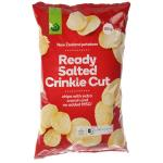 Countdown Potato Chips Ready Salted Crinkle Cut 150g