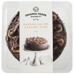 Original Foods Cake Banana And Salted Caramel 8 inch