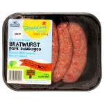 Freedom Farms Sausages Pork Bratwurst prepacked 450g