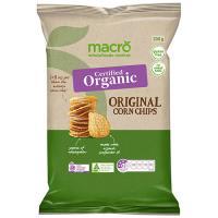 Macro Organic Corn Chips Natural 200g