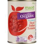 Macro Organic Tomatoes Diced Italian No Added Salt can 400g