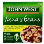 John West Tuna & Beans Tuna Capscm, Crn, Kidney Bn, Chilli 185g