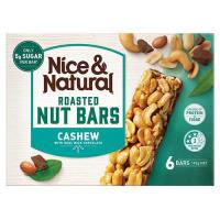 Nice & Natural Roasted Peanut & Cashew 192g (32g x 6pk)