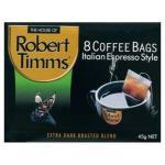 Robert Timms Coffee Bags Italian 8pk