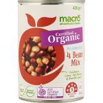 Macro Organic Beans 4 Mix No Added Salt 420g