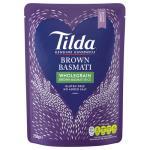 Tilda Steamed Rice Brown Basmati 250g