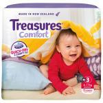 Treasures Comfort Crawler Nappies 6-11kg jumbo pack 76pk