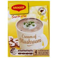 Maggi Soup For A Cup Instant Soup Cream Of Mushroom 62g 4 serve