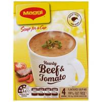 Maggi Soup For A Cup Instant Soup Hearty Beef & Tomato 62g 4 serve