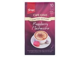 Gregg's Greggs Cafe Gold Coffee Mix Raspberry Mochaccino 200g box 10 sachets