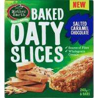 Mother Earth Oaty Slices Muesli Slice Salted Caramel 240g (40g x 6pk)
