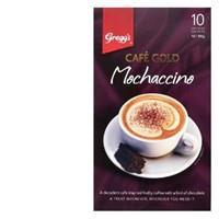 Gregg's Greggs Cafe Gold Coffee Mix Mochaccino box 10 sachets