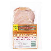 Hendersons Middle Eye Bacon 600g