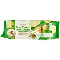 Countdown Rice Crackers Thin Sour Cream & Chives 100g