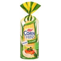 Real Foods Corn Thins Crispbread Sesame Organic bag 150g