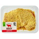 Countdown Beef Schnitzel Crumbed Nz 2pce Small Tray min order 400g per 1kg
