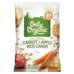 Only Organic Toddler Snacks Carrot & Apple Rice Cakes 40g