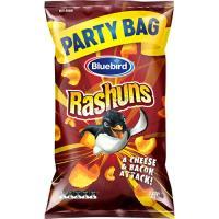 Bluebird Rashuns Corn Snacks Cheese & Bacon party bag 230g