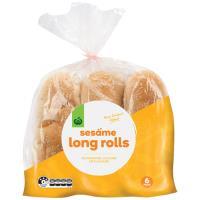 Countdown Bread Rolls Long Sesame 6pk