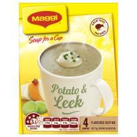 Maggi Soup For A Cup Instant Soup Potato & Leek 78g (19.5g x 4pk)
