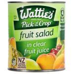 Wattie's Fruit Salad In Clear Juice 820g
