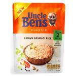 Uncle Bens Basmati Rice Brown 250g