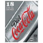 Coca Cola Soft Drink Diet Coke 5940ml (330ml x 18pk)