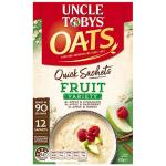 Uncle Tobys Quick Sachets Oat Singles Fruits Variety 420g (35g  x 12pk)