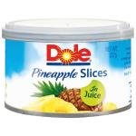 Dole Tropical Pineapple Slices In Juice 227g