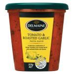 Delmaine Fresh Pasta Sauce Tomato & Roasted Garlic 325g