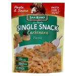 San Remo La Pasta Single Snack Pasta Dish Carbonara 80g