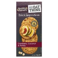 Huntley & Palmers Oat Thins Crackers Cranberry Coconut & Honey 150g