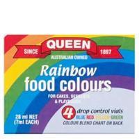 Queen Food Colour Multi Pack 4pk