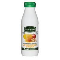 Homegrown Chilled Juice Lemon Honey & Ginger single bottle 400ml