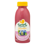 Simply Squeezed Chilled Juice Blueberry Bomb single bottle 350ml