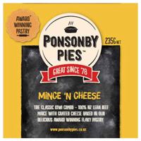 Ponsonby Pies Fresh Pie Single Mince & Cheese 235g