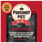Ponsonby Pies Fresh Pie Single Steak & Cheese 235g