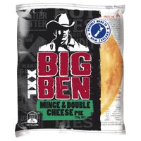 Big Ben Xxl Fresh Pie Single Mince & Double Cheese 210g