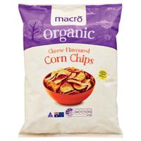 Macro Organic Corn Chips Cheese 200g