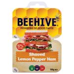 Beehive Ham Shaved Lemon Pepper 2 x 50g packs 100g