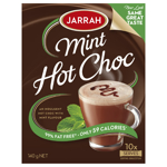 Jarrah Drinking Chocolate Choc Mint 140g boxed 10 stick sachets