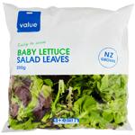 Value Baby Leaf Lettuce 250g