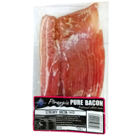 Pirongia Pure Streaky Bacon 1kg