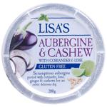 Lisas Aubergine & Cashew Dip 200g