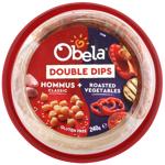 Obela Classic Hommus & Roasted Vegetables Double Dips 240g