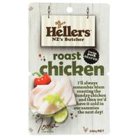 Hellers Shaved Roast Chicken 200g