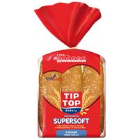 Tip Top Supersoft Sesame Long Rolls 6ea