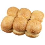 Bakery Round Sesame Rolls 12ea