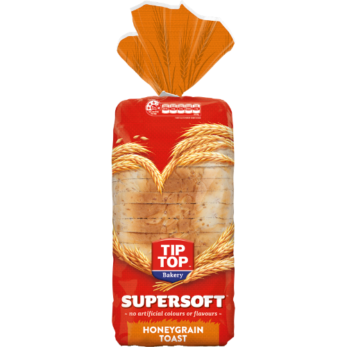 Tip Top Supersoft Honeygrain Toast Bread 700g